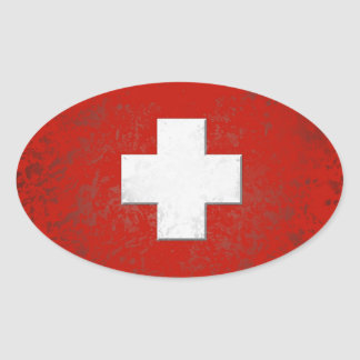 Swiss drapeau plus sticker
