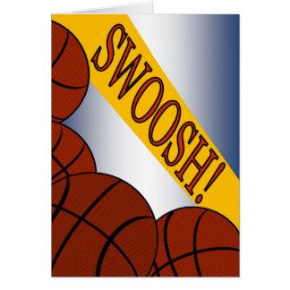 Swoosh! Basketball-Erfolgs-Glückwunsch Karte