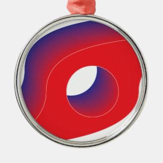 Swoosh Silbernes Ornament
