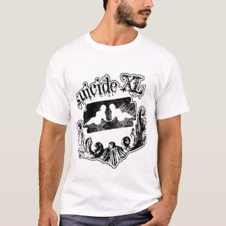 sxl Schwarzes auf Weiß T-Shirt