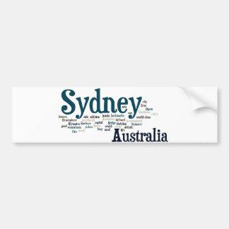 Sydney, Australien Autoaufkleber