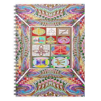 SYMBOL-Kunst: Das heilende Mitleid n gehen Spiral Notizbuch