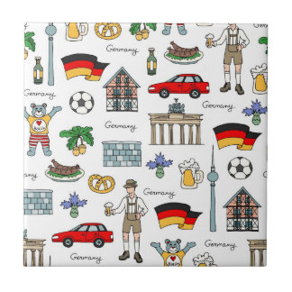 Symbol-Muster Deutschlands | Kleine Quadratische Fliese