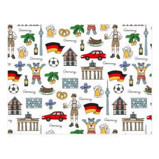 Symbol-Muster Deutschlands | Postkarte
