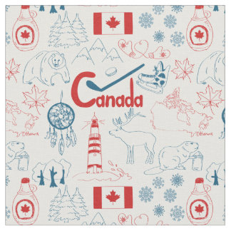 Symbol-Muster Kanadas   Stoff