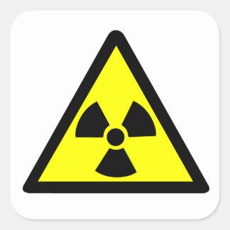 Symbole radioactif sticker carré