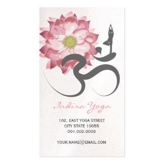 Symbole spirituel rose de logo de l'OM de yoga de Carte De Visite Standard