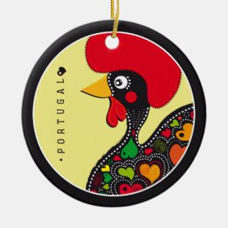 Symbole von Portugal - Hahn Rundes Keramik Ornament