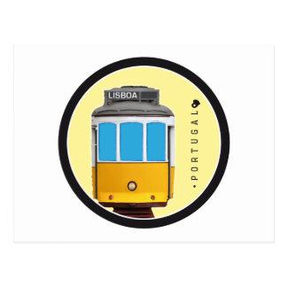 Symbole von Portugal- - Lissabon-Straßenbahn Postkarte
