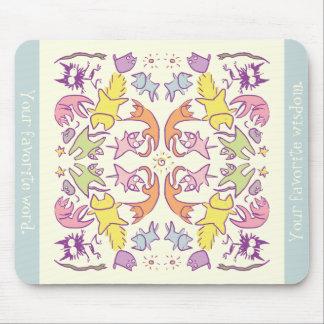 Symmetrie Pastelcolor niedliche Katzen Mousepads