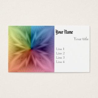 Symmetrischer Regenbogen Visitenkarte