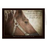 Sympathie de cheval avec Nice des mots Cartes De Vœux