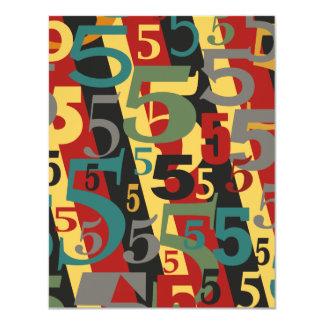 Symphonie # 5 fünfter oder fünfzigster Geburtstag 10,8 X 14 Cm Einladungskarte