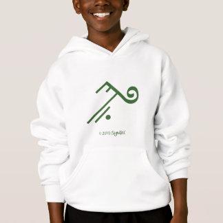 SymTell Grün, welches das Sweatshirt des