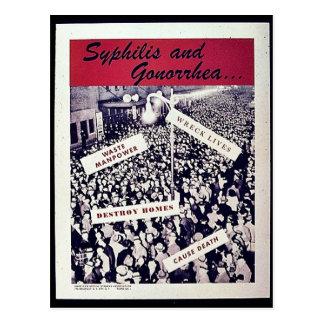 Syphilis und Gonorrhöe Postkarte