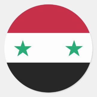 Syrien-Flagge Runder Aufkleber