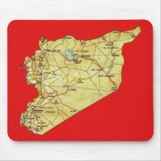 Syrien-Karte Mousepad