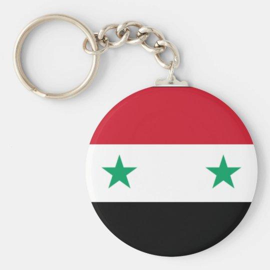 Syrische Flagge Keychain Standard Runder Schlüsselanhänger