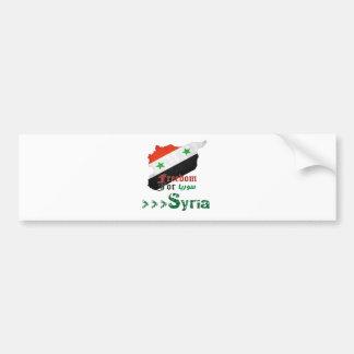Syrische Freiheit Autoaufkleber