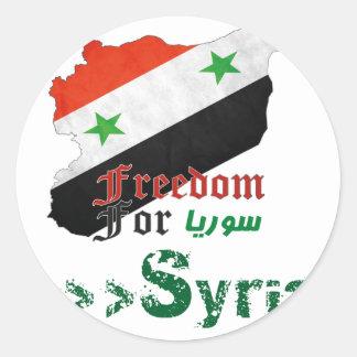 Syrische Freiheit Runder Aufkleber