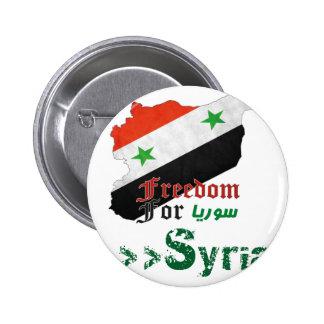 Syrische Freiheit Runder Button 5,7 Cm