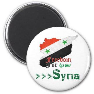 Syrische Freiheit Runder Magnet 5,7 Cm