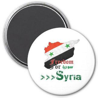 Syrische Freiheit Runder Magnet 7,6 Cm