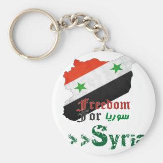 Syrische Freiheit Standard Runder Schlüsselanhänger