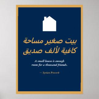 Syrisches Sprichwort Poster