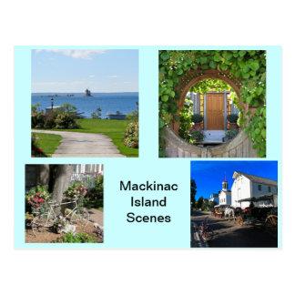 Szenen von Mackinac Insel Postkarte