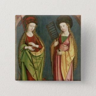 T32982 St Margaret von Antioch und von Quadratischer Button 5,1 Cm