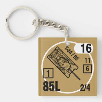 T-34/85 Keychain Fob Schlüsselanhänger