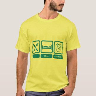 T der Männer Farb(essen Sie, schlafen Sie, T-Shirt