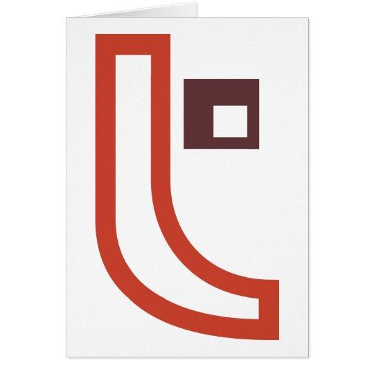T-Form-Gruß-Karten Grußkarte