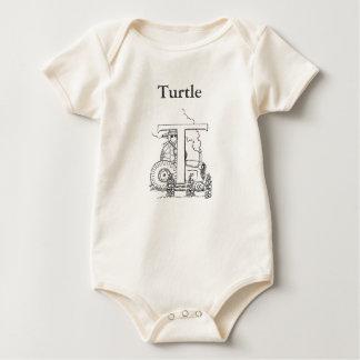 T ist für Schildkröte Baby Strampler