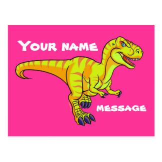 T-Rex Cartoon Postkarte