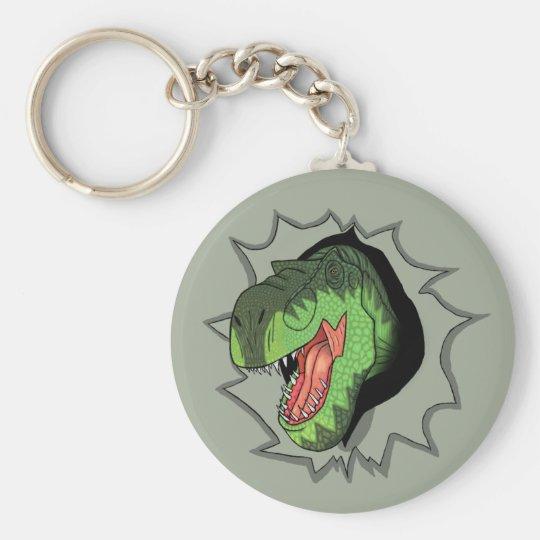 T-Rex, das aus sprengt Standard Runder Schlüsselanhänger