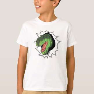 T-Rex, das aus T - Shirt heraus sprengt