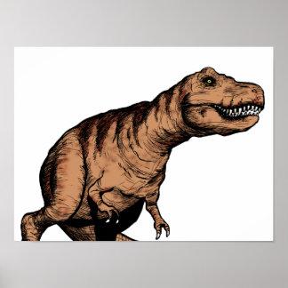 T-Rex Federillustration Poster