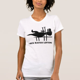 T-Rex hasst anheben T-shirts