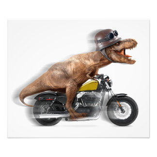 T rex MotorradTyrannosaurus-t rex - Dinosaurier Fotodruck