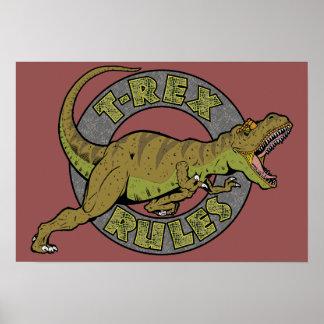t-Rex ordnet Plakat an