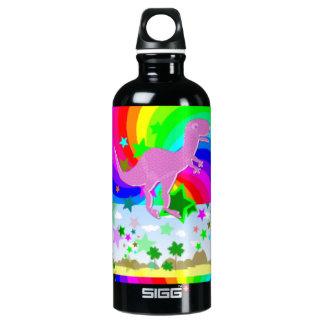 T-Rex Pixel-Dinosaurier Wasserflasche