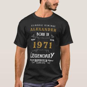 année âge 20e 60e T-shirt Homme 30ème Anniversaire Personnalisé personnalisé nom ajouter