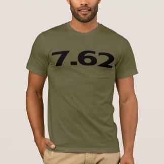 T-shirt 7,62 millimètres de munitions d'arme à feu