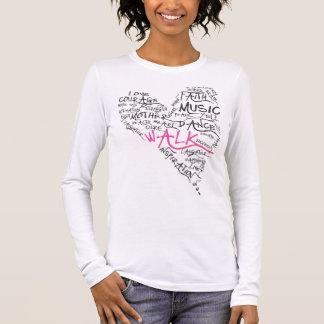 T-shirt À Manches Longues Coeur de cancer du sein