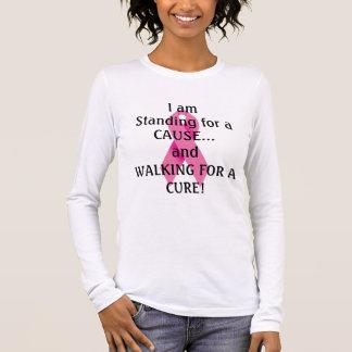 T-shirt À Manches Longues Je représente un cancer du sein de CAUSE .....