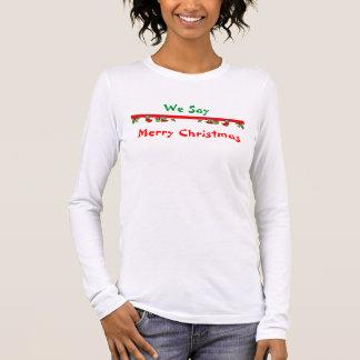 T-shirt À Manches Longues Joyeux Noël