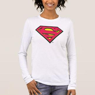 T-shirt À Manches Longues Logo classique du S-Bouclier   de Superman