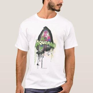 T-shirt Aquaman - lettre tordue d'innocence